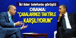 Cumhurbaşkanı Erdoğan ile ABD Başkanı Obama ile telefonda görüştü