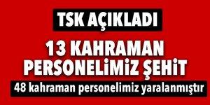 Kayseri'deki alçak saldırıda şehit sayısı açıklandı