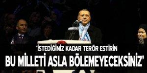 Cumhurbaşkanı Erdoğan: Bu milleti asla bölemeyeceksiniz