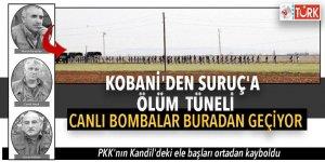 Kobani'den Suruç'a ölüm tüneli! Canlı bombalar buradan geçiyor
