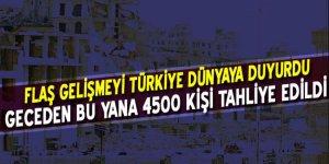 Türkiye dünyaya duyurdu! Geceden bu yana 4 bin 500...