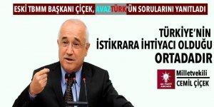 Eski TBMM Başkanı Çiçek, Avaztürk'ün sorularını yanıtladı