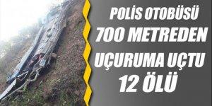Peru'da polis otobüsü 700 metreden uçuruma uçtu: 12 ölü