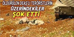 Öldürülen DEAŞ'lı teröristlerin üzerinde şoke eden detay!