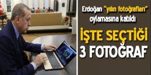 """Cumhurbaşkanı Recep Tayyip Erdoğan, AA'nın """"Yılın Fotoğrafları"""" oylamasına katıldı."""