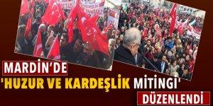 Mardin'de 'Huzur ve Kardeşlik Mitingi' yapıldı