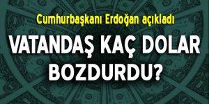 Erdoğan açıkladı! Vatandaş kaç dolar bozdurdu?