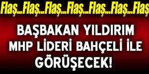 Başbakan Yıldırım MHP lideri Bahçeli ile görüşecek