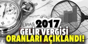 2017 Gelir Vergisi oranları açıklandı!