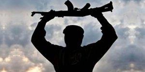 Teröristler güvenlik güçlerine teslim oldu