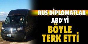 Rus diplomatlar ABD'yi konvoyla terk etti