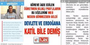 MEB'in göreve iade ettiği öğretmen, devleti ve Erdoğan'ı sivil katliamıyla suçlamış!