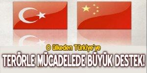 Çin'den Türkiye'ye terörle mücadelede büyük destek