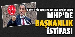 MHP'de şok istifa! Bahçeli'nin referandum cevabına...