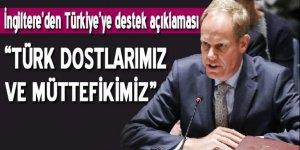 İngiltere'den Türkiye'ye destek açıklaması