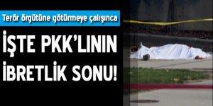 PKK'lının ibretlik sonu: PKK'ya götürmeye zorlayınca öldürdü!