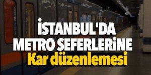 İstanbul'da metro seferlerine kar düzenlemesi