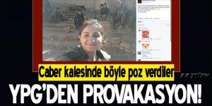 YPG'li teröristlerden Caber Kalesi provokasyonu!