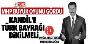 MHP büyük oyunu gördü! Kandile'e Türk Bayrağı dikilmeli