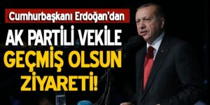 Cumhurbaşkanı Erdoğan'dan Fatih Şahin'e geçmiş olsun ziyareti!