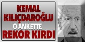 Sonunda Kemal Kılıçdaroğlu'da bir ankette rekor kırdı!