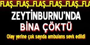 Zeytinburnu'nda bina çöktü! Olay yerine çok sayıda ambulans sevk edildi