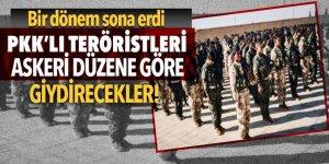 PKK'lı teröristleri askeri düzene göre giydirecekler!