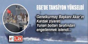 EGE'de flaş gelişme: Akar'ın Kardak'a gidişi gerginlik çıkardı