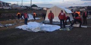 O ilde hasarlı evler için çadır kent kuruluyor