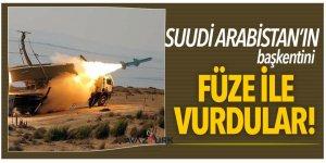 Suudi Arabistan'ın başkentini füze ile vurdular!