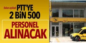 Arslan: PTT'ye 2 bin 500 personel alınacak