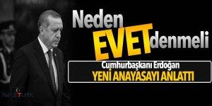 Cumhurbaşkanı Erdoğan yeni anayasayı tek tek anlattı