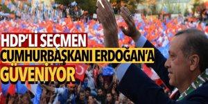 'HDP'li seçmen Cumhurbaşkanı Erdoğan'a güveniyor'