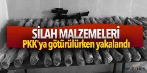 PKK'ya götürülmek istenilen silah malzemeleri ele geçirildi