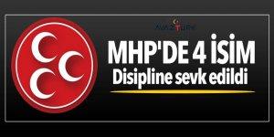 MHP'de 4 isim disipline sevk edildi