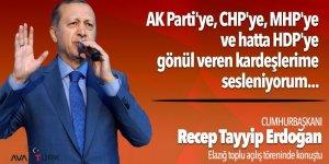 AK Parti'ye, CHP'ye, MHP'ye hatta HDP'ye gönül veren kardeşlerime sesleniyorum...