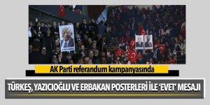 AK Parti referandum kampanyasında Türkeş, Yazıcıoğlu ve Erbakan posterleri açıldı