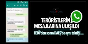 Teröristlerin Whatsapp mesajlarına ulaşıldı