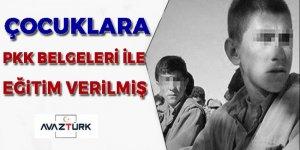 Çocuklara PKK dokümanlarıyla eğitim verilmiş!
