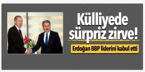 Külliye'de sürpriz zirve! Erdoğan BBP liderini kabul etti