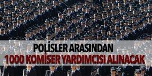 Polisler arasından 1000 komiser yardımcısı alınacak