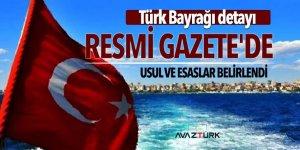 Türk Bayrağı detayı Resmi Gazete'de