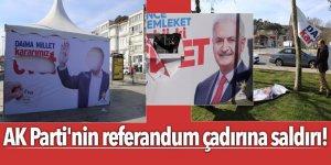 AK Parti'nin referandum çadırına saldırı!
