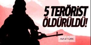 Operasyonlarda 5 terörist öldürüldü!