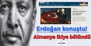 Erdoğan konuştu! Almanya ikiye bölündü