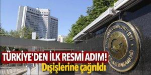 Türkiye'den ilk resmi adım! Dışişlerine çağrıldı