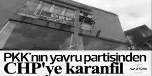 DBP il binasından CHP heyetine kırmızı karanfiller atıldı!