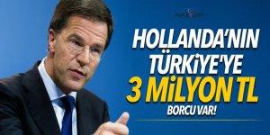 Hollanda Türkiye'ye 3 milyon TL borçlu!