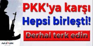 PKK'ya karşı hepsi birleşti!