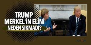 Trump, Merkel'in elini niçin sıkmadığını anlattı